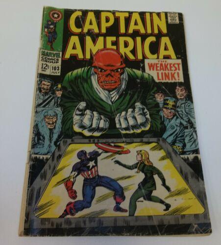 Captain America Weakest Link 103 July 1968 Comic Book