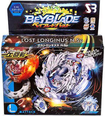 Lost Longinus Luinor .N.Sp Burst Beyblade Starter w/ Sting Launcher B-66