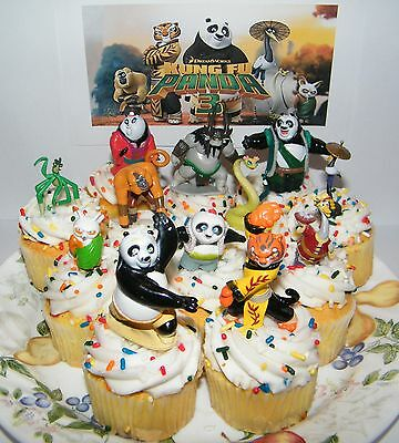 Kung Fu Panda 3 Cake Topper Set of 13 Fun Figures with PO and More!