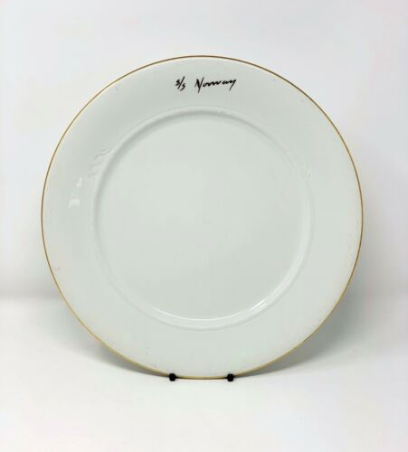 """S.S. NORWAY """"Presentation Plate"""" from Le Bistro Restaurant - Excellent Condition"""