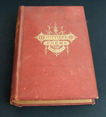 Whittier Poems The Poetical Works Of John Greanleaf Whittier Household Ed  1879