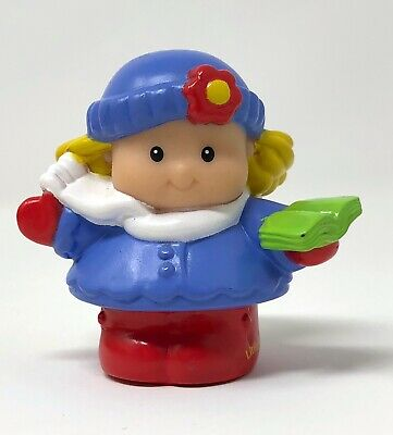 Fisher Price Little People Christmas Caroler Girl Woman 2003 Nativity singer