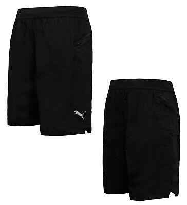 Puma NeverRunBack 9'' Mens Training Shorts Running Gym Black 516876 01 RW17