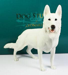 Dog Figurine Sculpture Fine China German Shepherd Ornament Gift White NEW