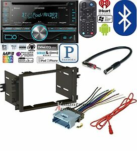 kenwood double din cd player car radio install mount kit harness image is loading kenwood double din cd player car radio install