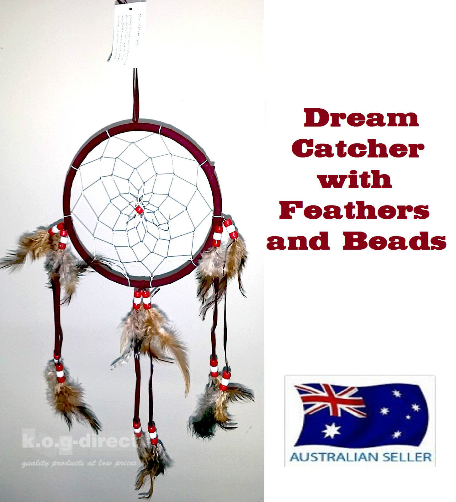 Dream catcher native american indian style dreamcatcher for Dreamcatcher beads meaning