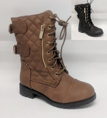 Girls Youth Kids Combat Military Boot #Jean-18K