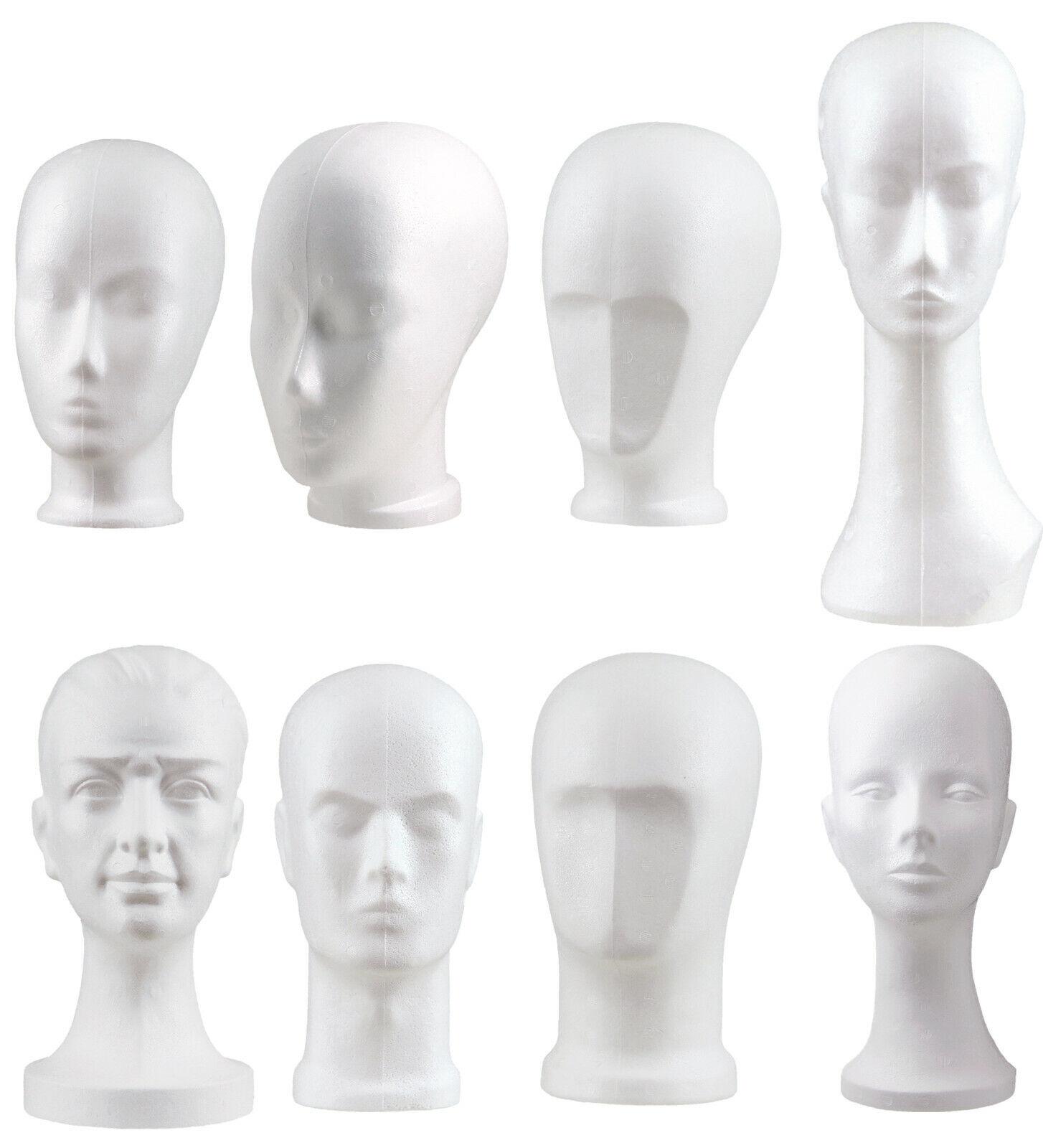 Styroporkopf Damen Perückenkopf Frau weiß Weiblicher Schaufester Kopf Styropor