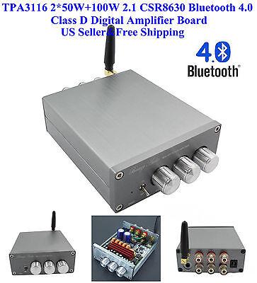 US TPA3116 2*50W+100W 2.1 CSR8630 Bluetooth 4.0 Class D Digital Amplifier Board