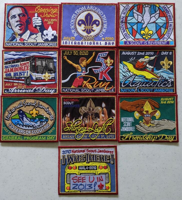 Complete Patch of the Day Set 10 Patches 2010 National Boy Scout Jamboree