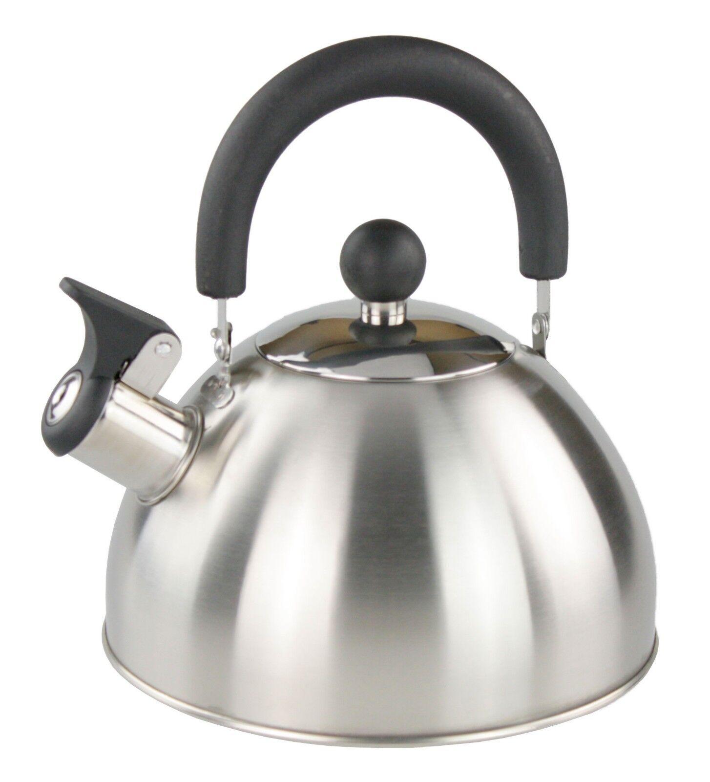 2 Liter Edelstahl Wasserkessel Wasserkocher Flöttenkessel Teekessel ...