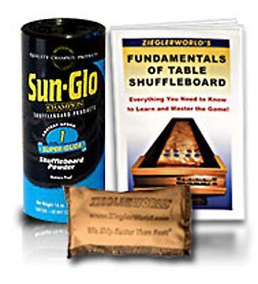 Table Shuffleboard Super Glide Sand #1 Six Pack+ 2 Bonuses !