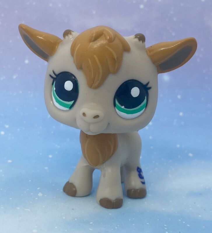 Littlest Pet Shop Authentic # 2299 Tan Gold Goat Teal Green Eyes