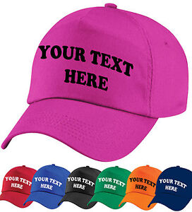 CUSTOM-PRINTED-PERSONALISED-BASEBALL-CAP-8-CAP-COLOURS-ANY-TEXT-LOGO-EMBLEM