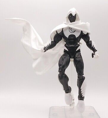 White Hooded Cape (SU-C-MN: 1/12 Wired Hooded White Cape for Marvel Legends Moon Knight (No)