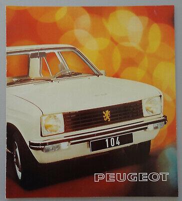 V16081 PEUGEOT 104 BERLINE - CATALOGUE - 07/74 - 21x24 - FR
