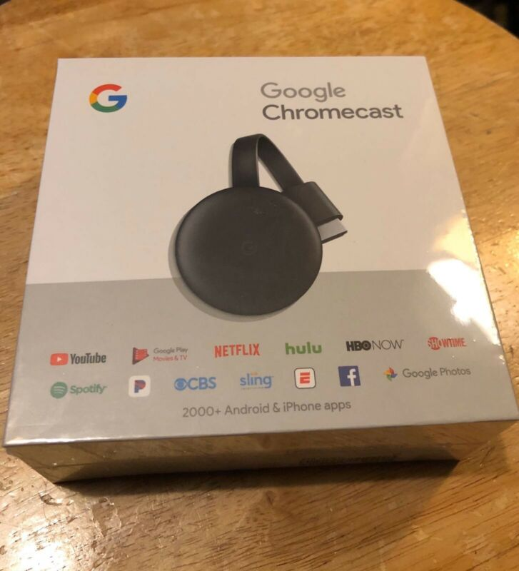 Google Chromecast 3rd Gen Digital - Black