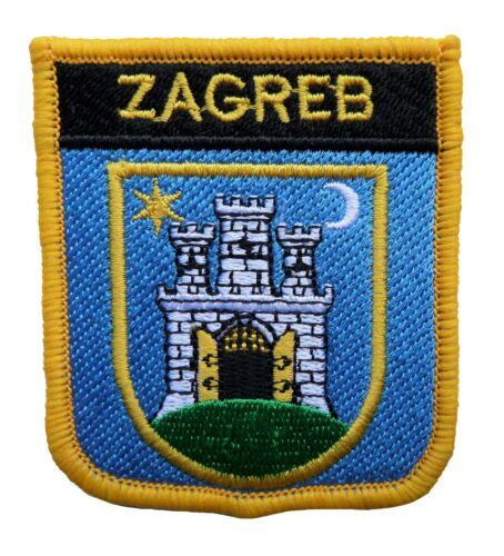 Zagreb Croatia Shield Embroidered Patch