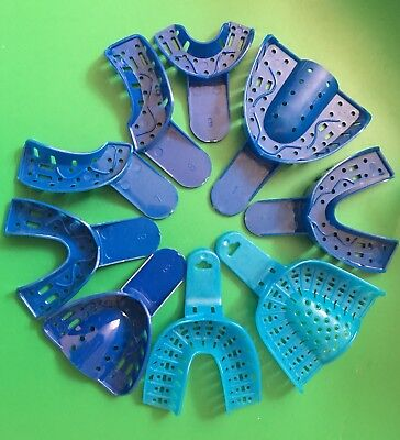 Dental Impression Trays 1 To 9 Set Disposable Large Medium Small 9pcs