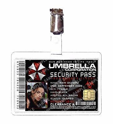 Resident Evil ID Badge Rain Ocampo Umbrella Corp Cosplay Prop Comic Con