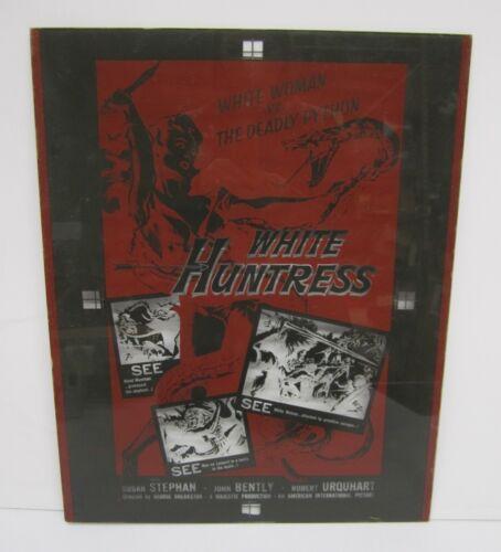 Vtg 1950s The White Huntress Movie Film Poster Glass Plate Printing Negative