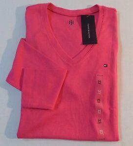 tommy hilfiger women 39 s v neck solid tee shirt ebay. Black Bedroom Furniture Sets. Home Design Ideas