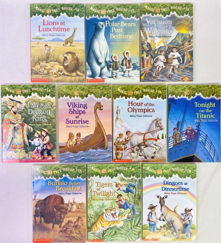 Lot 10 Magic Tree House Series #11-20 Chapter Book Set Historical Fiction Lvl M