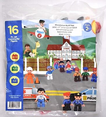 Duplo Lego LP Toys Community Figures People Set of 16 Pieces DZ001 >NEW<
