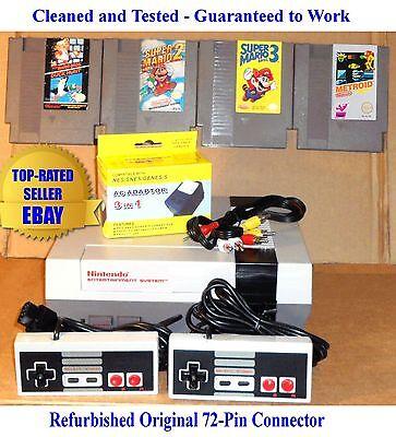 Nintendo NES Console Bundle + Mario Bros 1 2 3 & Metroid - BEST PINS -Gauranteed