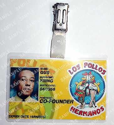 Breaking Bad Gus Fring ID Badge Cosplay Props Costume Fancy Dress Comic Con