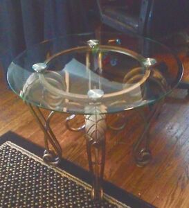 Three Beautiful  wrought iron Coffee table and two end tables