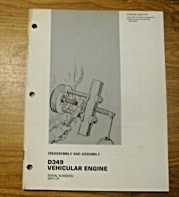 Vintage 1975 Caterpillar Vehicular Engine Disassembly Assembly Manual
