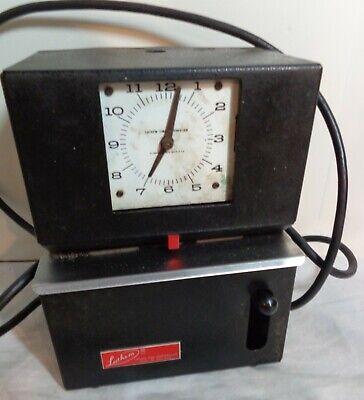 Vintage Lathem Time Clock Model 2021 - Working Order