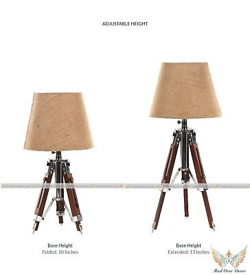 Antique Wooden Lamp Stand Nautical Bed Side Tripod Floor Lamp Best  Item Gft (Best Side Table Lamps)