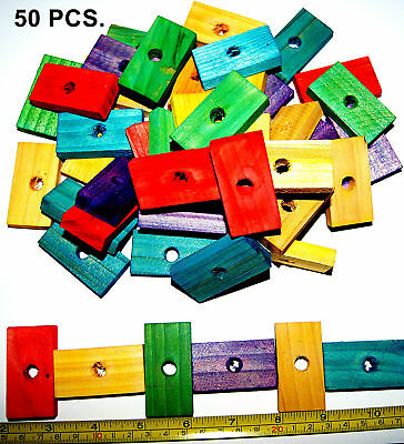 Colored wood wooden blocks bird parrot toys parts mini macaw Senegal -