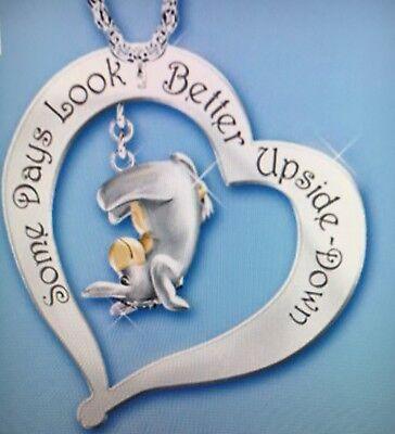 Eeyore Jewelry (Disney Eeyore Heart Quote Necklace.