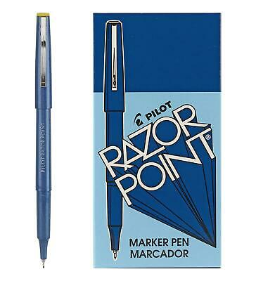 Pilot Razor Point Fine Line Marker Stick Pens Ultra-fine Point 0.3mm Blue