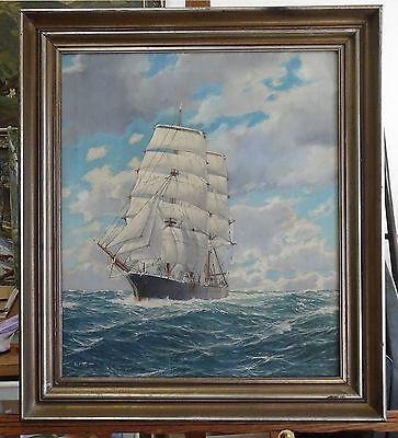 Ölgemälde / Ölbild / gemalt von Alf Tutt, Schiff Meer