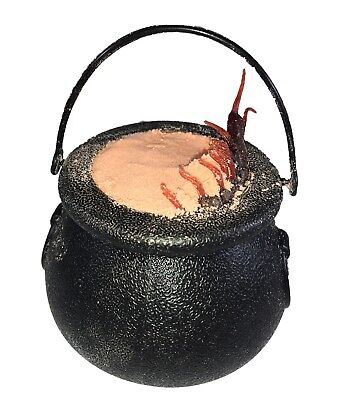 Halloween Bath Bomb Witches Brew Cauldron ORANGE 7oz with Surprise Toys Inside - Halloween Bath Bomb
