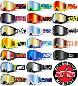 2014 100 accuri lunettes de motocross mx lentille miroir enduro moto ebay. Black Bedroom Furniture Sets. Home Design Ideas