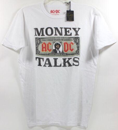 Lucky Brand AC/DC Money Talks White T-Shirt Concert Band Rock