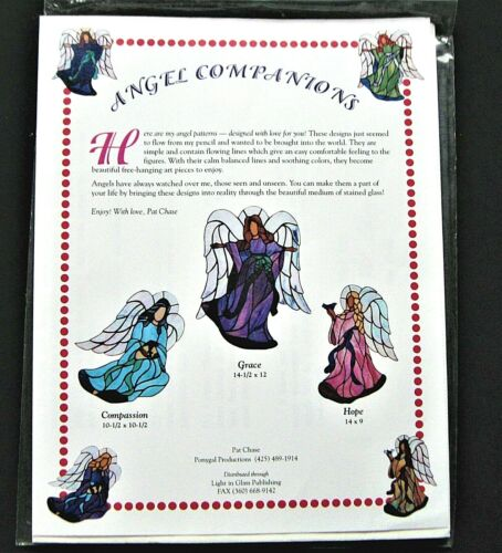 STAINED GLASS PATTERNS: ANGEL COMPANIONS