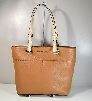 NWT MICHAEL KORS BEDFORD ACORN LEATHER TZ POCKET TOTE PURSE 30H4GBFT6L