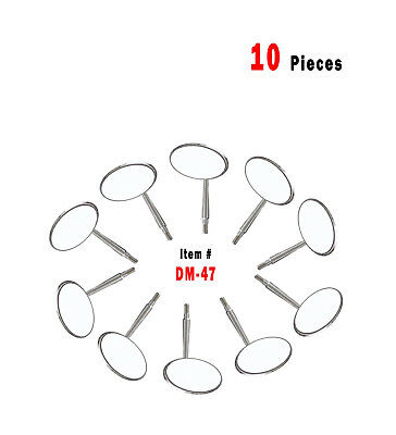 10 Pcs Dental Mouth Mirror Heads Cone Socket 5 Plain - Stainless Steel