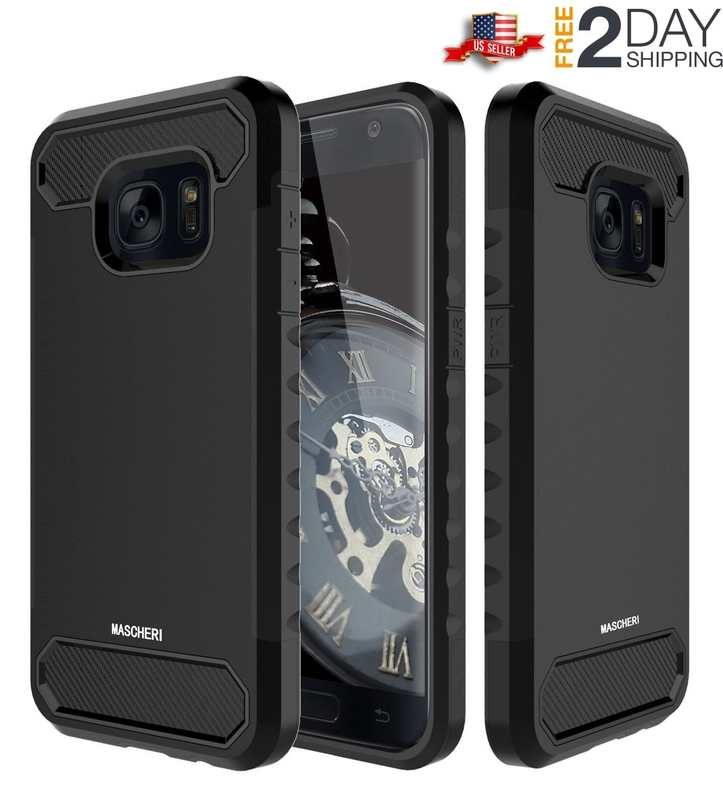 Samsung Galaxy S7 Armor Shockproof Rugged Rubber Hard Case Hybrid Defender Cover
