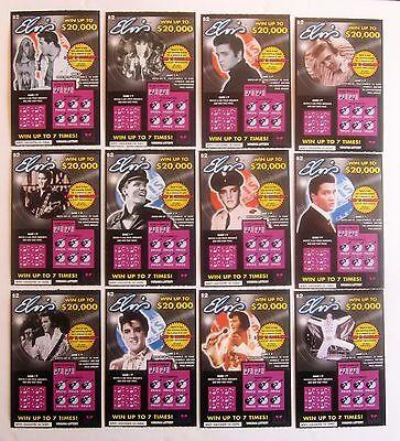 Elvis Presley Va  Instant Sv Lottery Ticket Set  12 Different