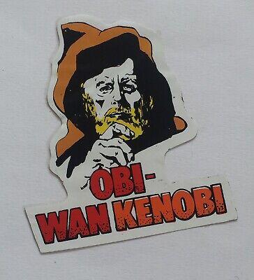 Vintage Star Wars 1977 UK British Ben Obi-Wan Kenobi Fascal Sticker Used Bootleg