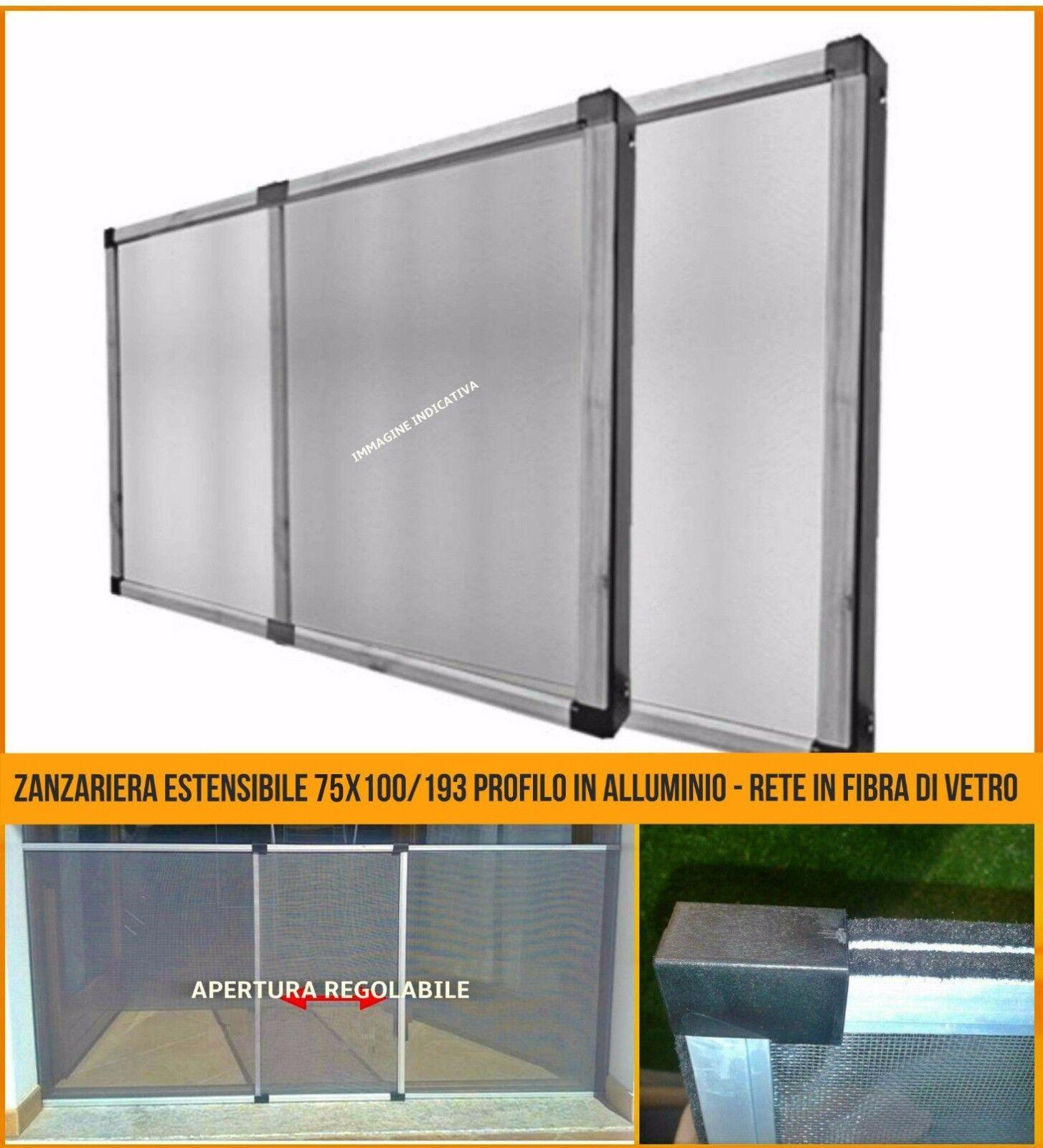 50x75 alluminio avorio x finestra Telai zanzariera /'dasko/' cm