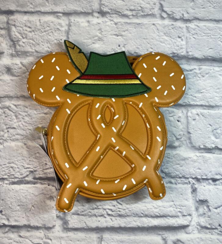 Disney Epcot World Showcase Germany Octoberfest Pretzel Crossbody Bag Purse New