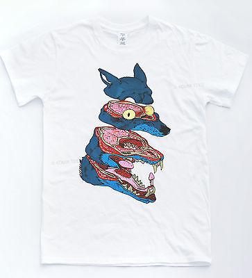 Wolf Anatomy T Shirt Illustration Cartoon Comic Tee Hipster Drawing Animal Top